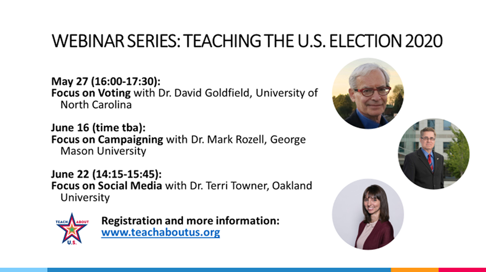 webinar series on Teaching the U.S. Election 2020