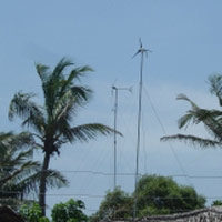 Wind provides a clean and sustainable source of energy for island nations like Maldives. Photo: USAID/Karin Fernando