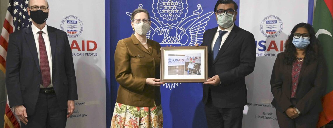 The United States Donates 60 Ventilators to Maldives to Respond to COVID-19