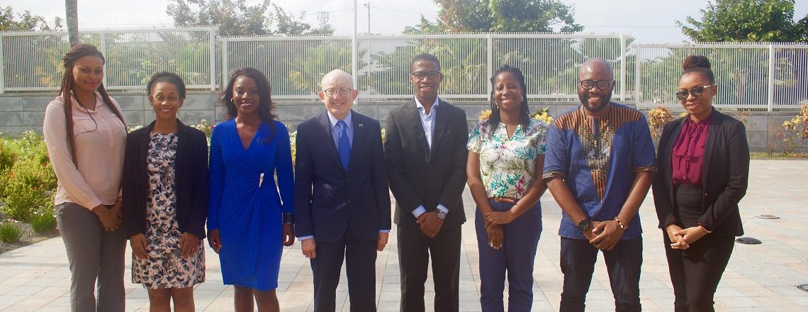 Chargé Samuel Watson meets with the 2019 Mandela Washington Fellows