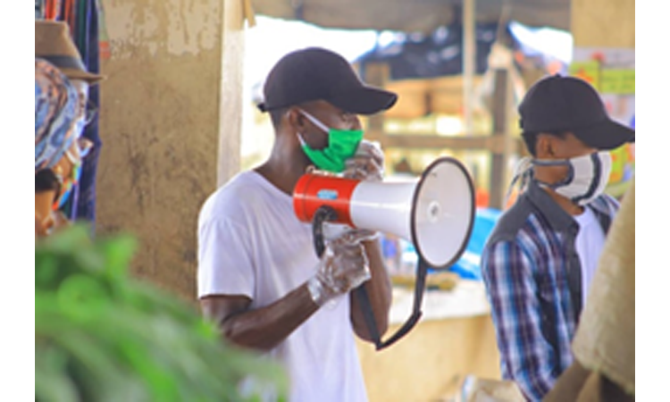 person with a megaphone