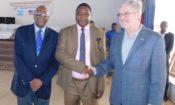 Ambassador Henshaw, Minister Sangaré, and Ron Freeman.