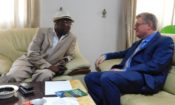 Ambassador Simon Henshaw and Kofi Annan University's Founder, Ousmane Kaba.