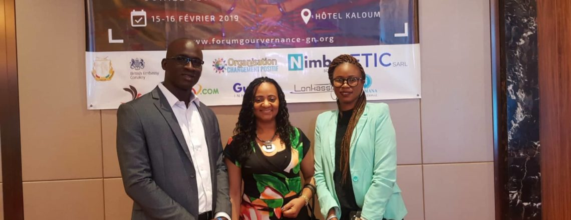 Mandela Washington Fellows hold the National Forum for Governance in Guinea