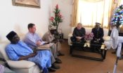 Ambassador Simon Henshaw met with the Governor, Prefet and Mayor of Boké.