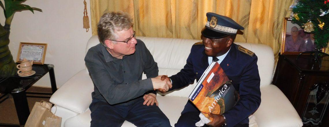 Ambassador Simon Henshaw in Boké Region