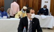Acting United States Ambassador His Excellency Audu Besmer at the first meeting of the Inter Party Committee (IPC).