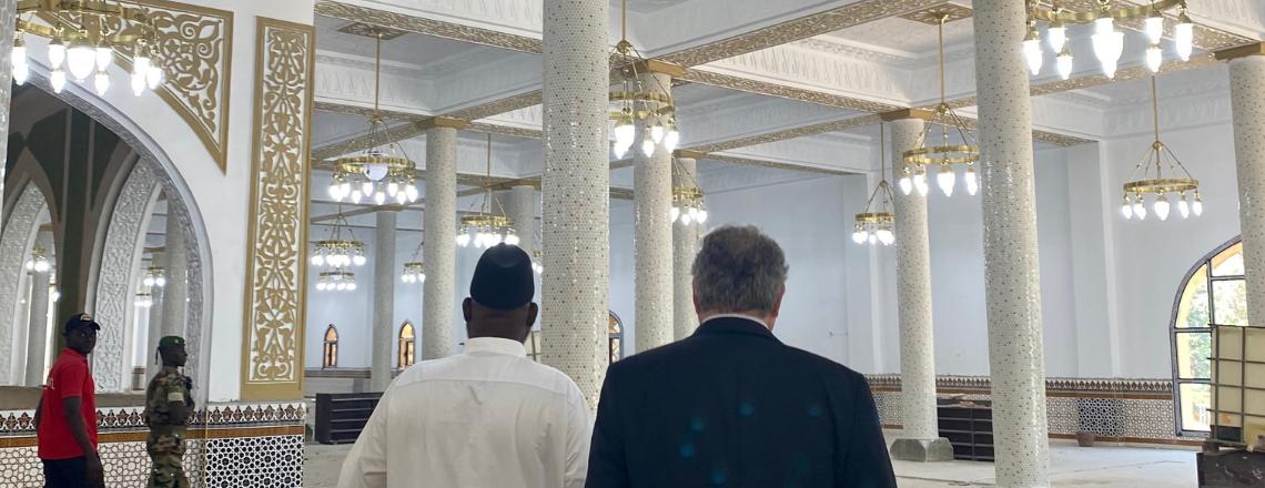 Le Chargé d'Affaires par intérim Koutsis Rencontre le Grand Imam de la Mosquée Fayçal