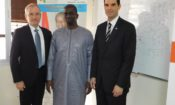 Deputy Chief of Mission Audu Besmer, Providence Mining LLC chairman Shawn McCormick, and Minister of Mines and Geology, Abdoulaye Magassouba.