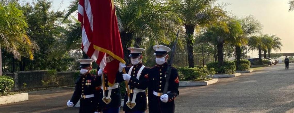 L'ambassade des États-Unis à Conakry célèbre le 245e anniversaire du Corps des Marines des