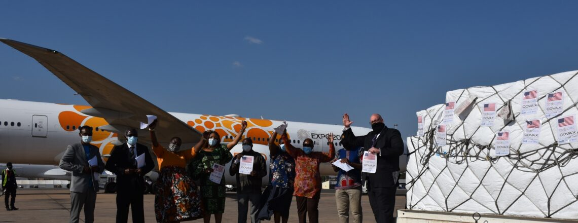 United States' Johnson and Johnson Vaccines Arrive in Malawi