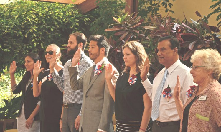 New Global Health Service Partnership (GHSP) Peace Corps Volunteers sworn-in