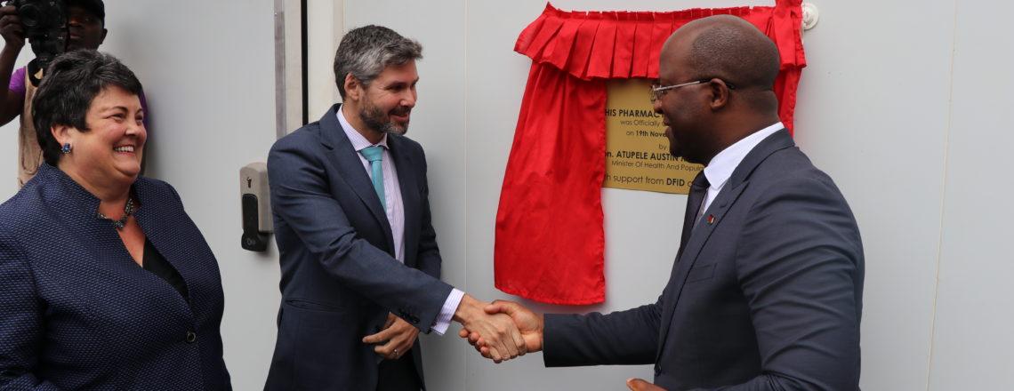 "U.K. and U.S. support Malawi with additional ""Prefabricated Pharmacy Storage Units"""