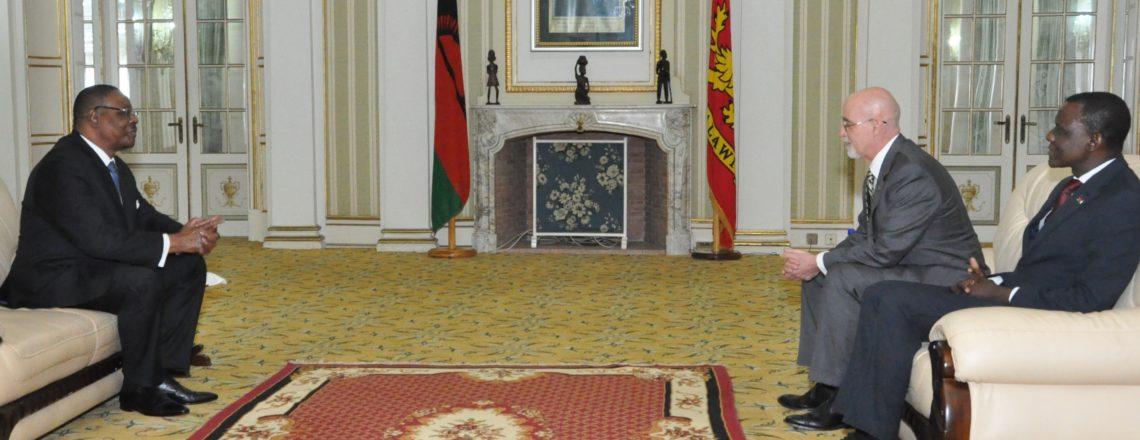 U.S. Amb. Robert Scott Presents Credentials to President Mutharika