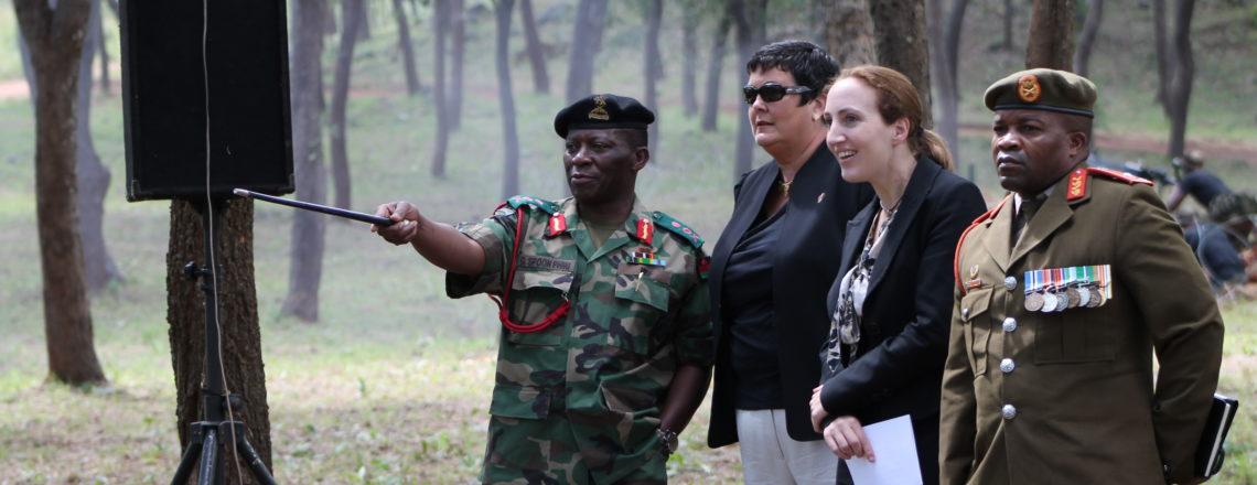 Ambassador Palmer Observes MDF Peacekeeper Training