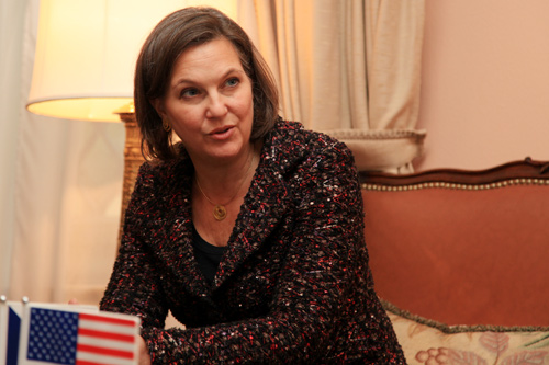 Assistant Secretary of State Victoria Nuland visits the Czech Republic to meet with government officials and civil society leaders, February 5, 2014. (photo U.S. Embassy Prague)