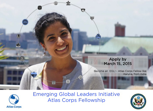 Become an EGLI - Atlas Corps Fellow like Karuna from India.