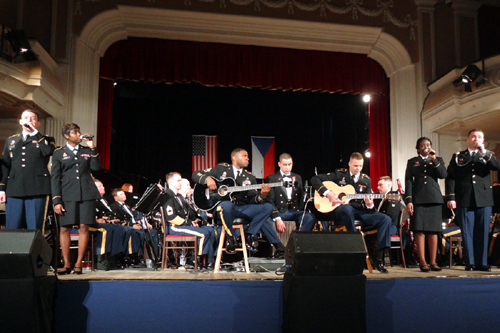 The United States Army Europe Band & Chorus perform in the concert hall Peklo in Pilsen.