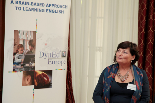 Mrs. Milena Krhutova of Brno University of Technology presents the benefits of implementing DynEd at their university.