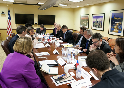 Assistant Secretary of State for European and Eurasian Affairs Victoria Nuland hosts the 2014 U.S.-Czech Strategic Dialogue.
