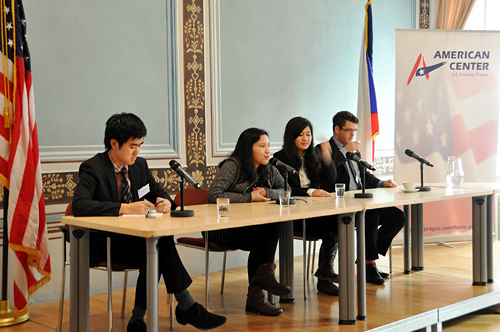 The American Center hosted sessions of the 27th International Youth Leadership Conference on January 7, 2014.