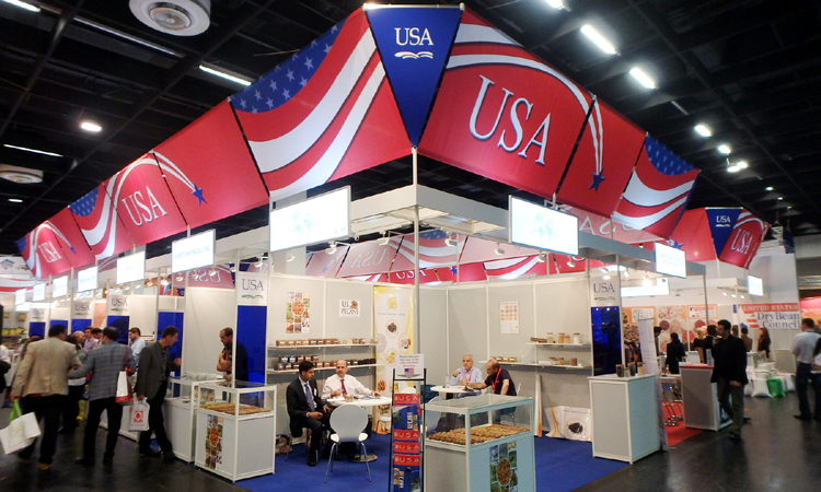 USA Pavilions at Anuga show in Cologne, Germany.