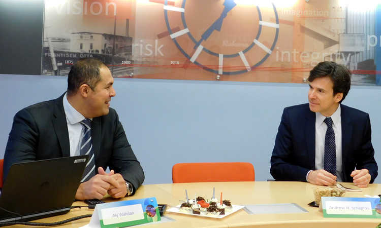 Ambassador Schapiro Visits Procter & Gamble Rakona in Rakovnik