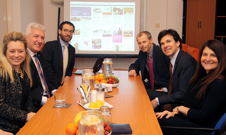 Ambassador Schapiro and Ms. Tamar Newberger visited the Department of Computer Science at the Faculty of Electrical Engineering of the Czech Technical University.
