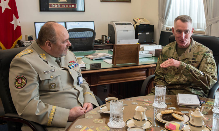 LTG Cheek meets MG Gurnik in the Pentagon