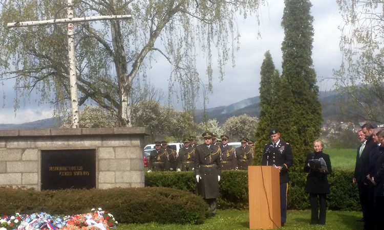 Major Mark White of the Office of Defense Cooperation represented the U.S. Embassy Prague at a commemoration event in Krupka, northern Bohemia.