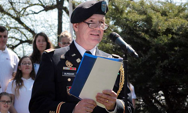 On May 2nd, U.S. Army Attaché Col. John Burbank attended a commemoration ceremony in Tachov of the 71th Anniversary of the end of World War II.