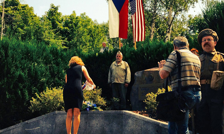 Political Officer Beth Fernald participated in the World War II ceremonies in Mukov and Teplice