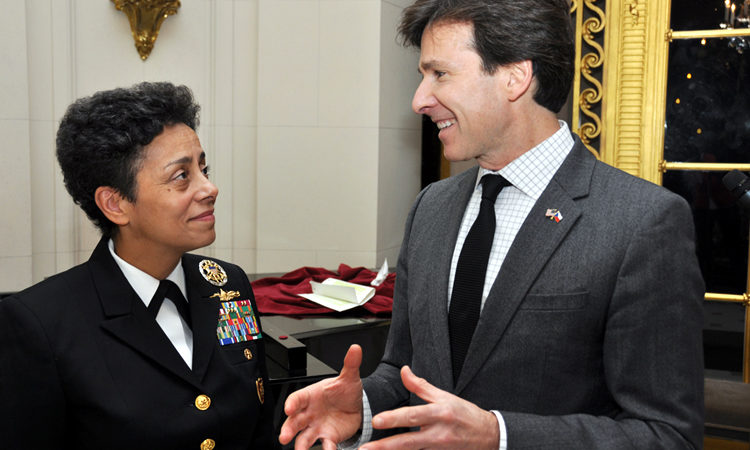 Admiral Michelle Howard and Ambassador Andrew Schapiro.