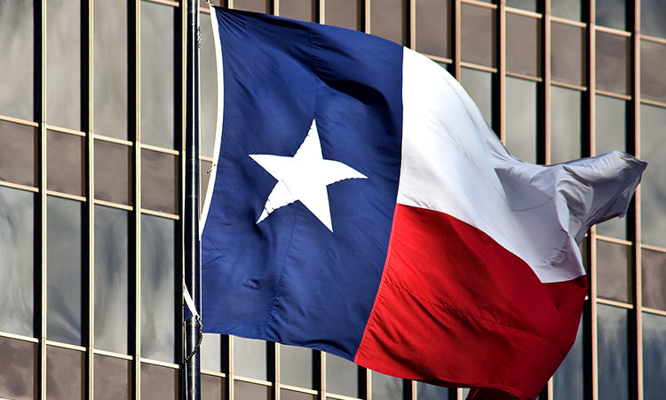 Flag of Texas in Austin.