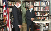 "Ambassador King and MFA Petříček make a ""virtual visit"" to the Dukane Company, which converted part of its plant into a face mask production line"