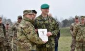 Czech Army Command Sergeant Major Petr Seifert Receives the Texas Medal of Merit