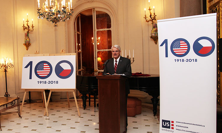Ambassador King launches the Centennial of U.S.-Czech Relations at the U.S. Ambassadors' residence on December 11, 2017.