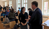 Off the Record Strategies President Mark Pfeifle engaged students of the Ostrava University