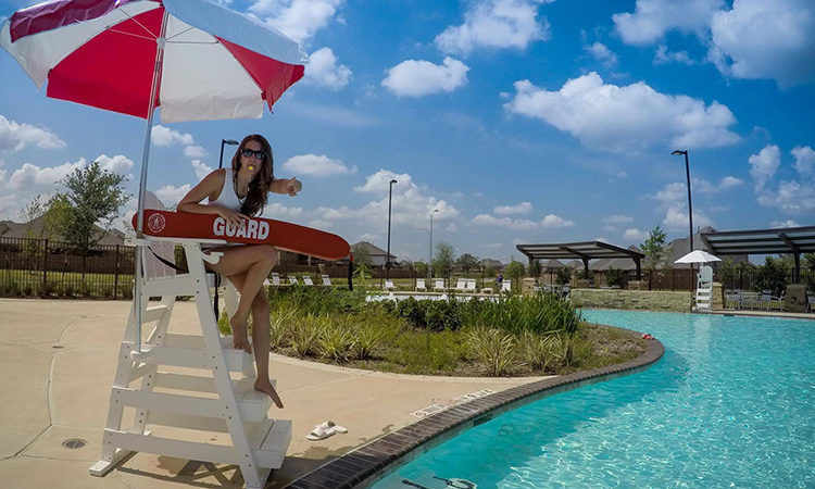 Inside the SWT 2017 brochure: Veronika Cerna, Lifeguard on duty, Houston, Texas