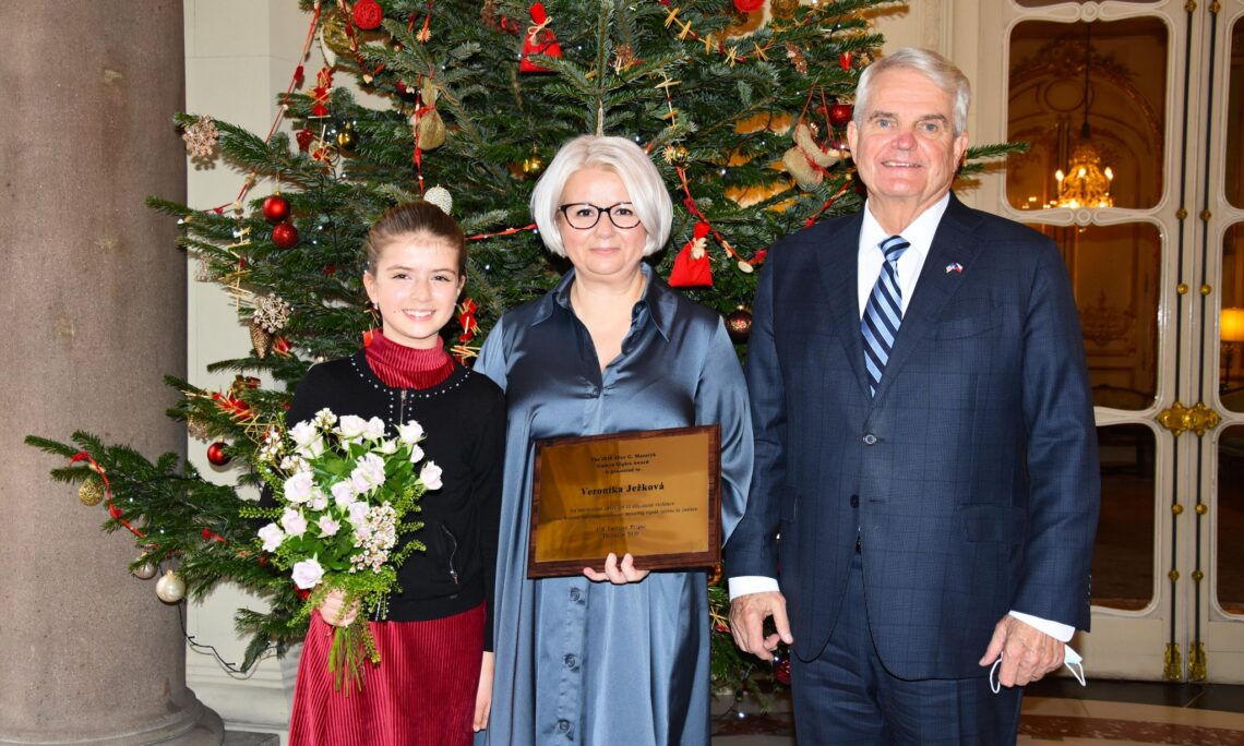Ambassador King Presents Annual Human Rights Award to Veronika Jezkova