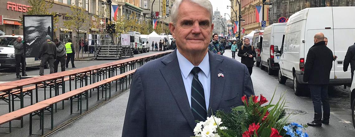 Ambassador King Celebrates the 30th Anniversary of the Velvet Revolution