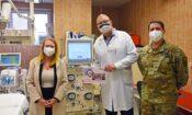 U.S. European Command daruje dialyzační přístroj vinohradské nemocnici