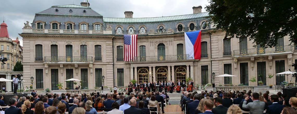 Ambassador King Hosts the PKF — Prague Philharmonia