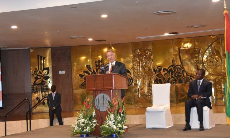Ambassador during his speech