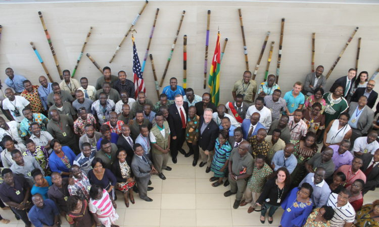 Assistant Secretary Nagy Tibor with Lome Staff