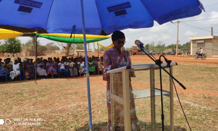 Ayawavi Aziadekey, Madame le maire de la commune pendant son allocution