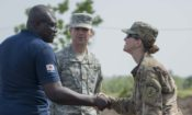 Greatings between the North Dakota National Guard and Togo Security reprensentative
