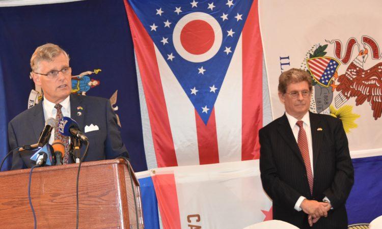 L'Ambassadeur Eric Stromayer prononce son allocution à l'occasion de la réception du 243e anniversaire de l'indépendance