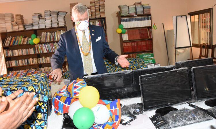 L'Ambassadeur Eric Stromayer lors de son Allocution