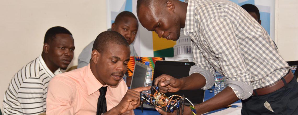 Coordonnateurs des espaces américains d'Afrique de l'Ouest à Lomé pour un atelier STEM